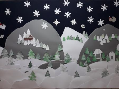 Z tęsknoty za zimą - plastyczne inspiracje
