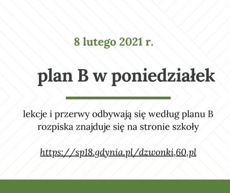 Plan B w poniedziałek