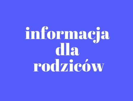 Informacja na temat poniedziałku 8 lutego 2021