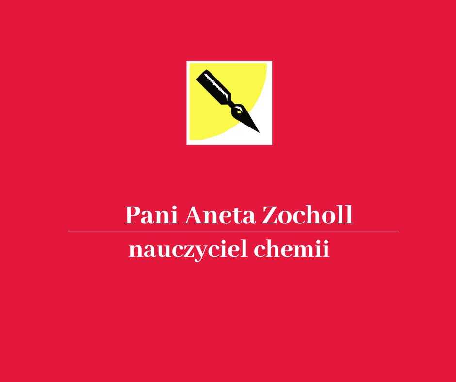 List gratulacyjny dla pani Zocholl