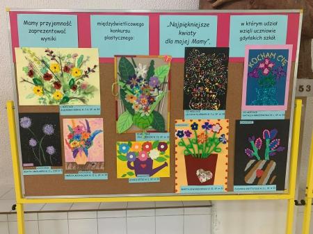 Wyniki międzyświetlicowego konkursu plastycznego ''Najpiękniejsze kwiaty dla
