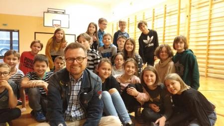 Spotkanie z pisarzem, panem Marcinem Koziołem